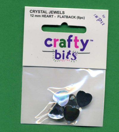 Crystal Jewels - Hearts 12mm Flatback x 6